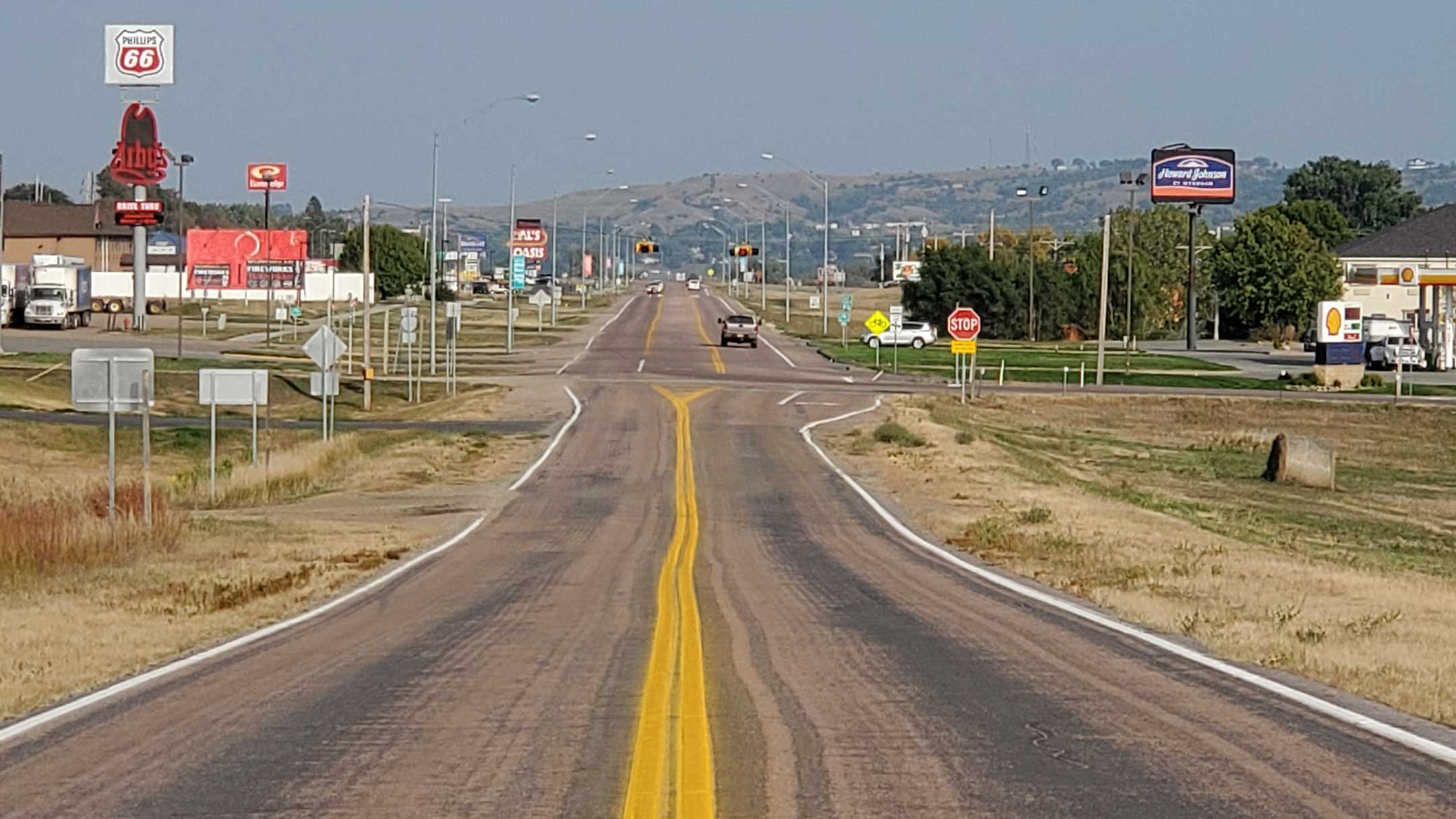 Highway in Oacoma South Dakota